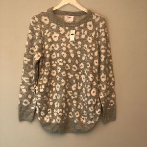 Old Navy | Gray & white leopard maternity sweater